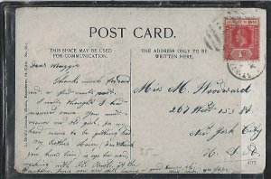 LEEWARD ISLANDS  (P2808BB)  KGV 1D ON PPC ST KITTS TO USA
