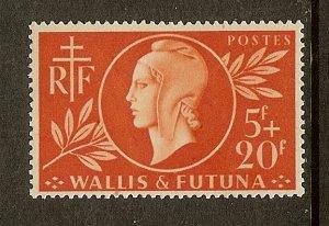 Wallis & Futuna Islands, Scott #B9, 5fr + 20fr Red Cross, MH