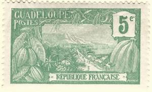 Guadeloupe (Sc #57) F-VF Mint OG hr..French Colonies are Hot!