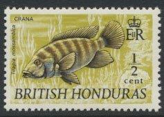 British Honduras SG 277 SC # 235 MLH  Wildlife Mouthbrooder Fish   1971  see ...