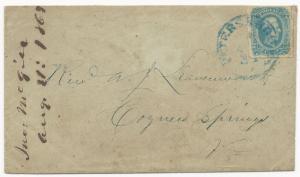 CSA Scott #12a (AD) on Cover Blue Petersburg, VA CDS August 31, 1863 VF