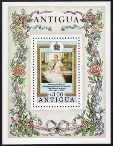 Antigua MNH S/S & 2 Stamps 584-6 QE II 80th Birthday 1980 2 Scans