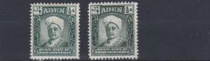 ADEN  MUKALLA    1942 - 46   S G 1 + 1A    2 X 1/2A  VALUES  MH &   MNH