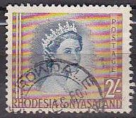 Rhodesia and Nyasaland 151 1954 Elizabeth Used