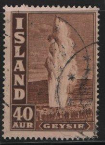 ICELAND, 206, USED, 1938-47, GEYSER