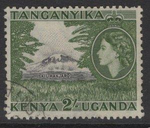 KENYA, UGANDA & TANGANYIKA SG177 1954 2/= BLACK & GREEN FINE USED