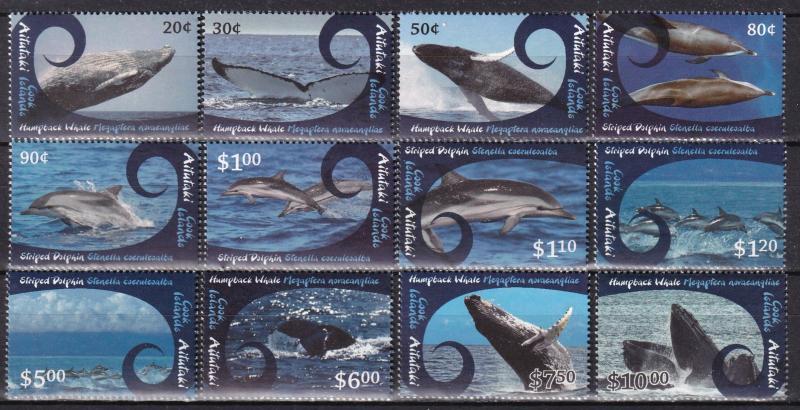 Aitutaki #581-92 MNH CV $55.00 (A19984)