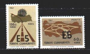 Turkey. 1967. 2058-59. European motorways. MNH.