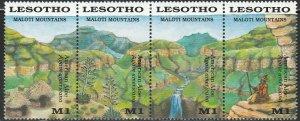 Lesotho, # 720 Unused Strip, From 1989