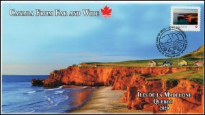 CA20-012, 2020, From Far and Wide, Pictorial Postmark, First Day Cover, Iles de