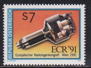 Austria # 1545, Congress of Radiologists, NH, 1/2 Cat.