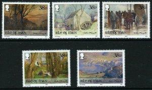 Isle of Man --2012-   PAINTINGS BY WILLIAM HOGGATT   MNH  Set   # 1486-1490