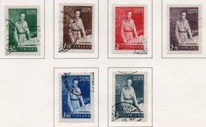 Finland Sc 227-32 1941 Mannerheim stamp set used