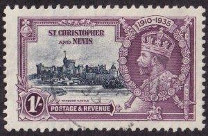 St Kitts-Nevis #75 Used