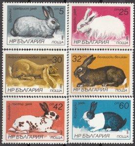 1986 Bulgaria 3447-3452 Fauna 5,00 €