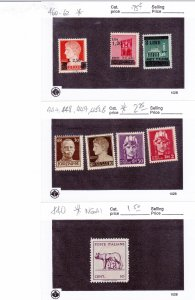 italy - mint group between sc # 440//474 22 stamps cv $10.00+