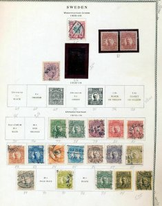 SWEDEN 1900/50s M&U Collection on Pages (Apprx 150 Items)(NT5609