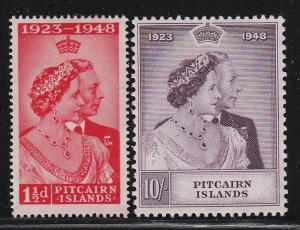 Pitcairn Islands  Sc # 11 + 12 set VF-MH nice color Scott cv $ 75 ! see pic !