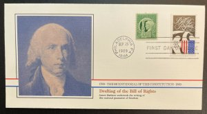US #2421 FDC + #908 - Bicentennial of Constitution 1787-1987 [BIC73]