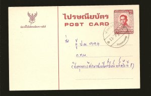 Thailand Postmarked Thamuano Prestamped Postal Card Used