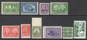 CANADA 142//261 OG NH U/M SOUND $195 SCV COLLECTION LOT LAST 2 NOT COUNTED