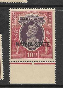 INDIA NABHA (P0512B) KGVI 10R  SG 92    MNH