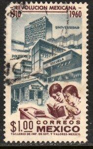 MEXICO 917, $1P 50th Anniv Mexican Revolution. Used. VF. (531)