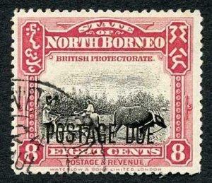 North Borneo SGD81 2c Post Due used Cat 32 Pounds