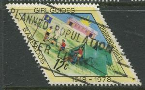 Barbados -Scott 479 -  Girl Guides Camp - 1978 - Used - Single 12c Stamps
