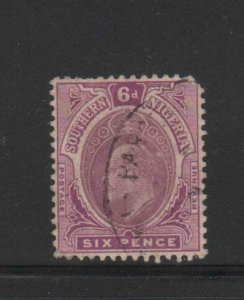 SOUTHERN NIGERIA #38  1907  6p  KING EDWARD VII       F-VF USED