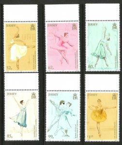 Jersey 2019 MNH Dame Margot Fonteyn Prima Ballerina 6v Set Ballet Dance Stamps
