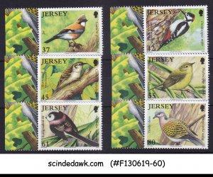 JERSEY - 2010 WOODLAND BIRDS - 6V - MINT NH