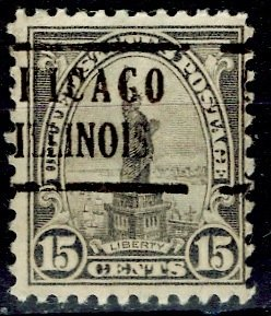 U.S.A.; 1931; Sc. # 696;  O/Used Pre-Canc. Perf. 11x10 1/2 Single Stamp
