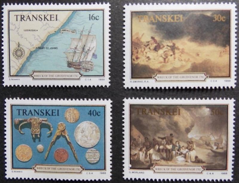 1988 Wreck of Grosvenor MNH Stamps from South Africa (Transkei)