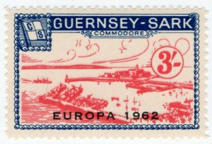 (I.B-JA) Guernsey Cinderella : Isle of Sark 3/- (Commodore Shipping)