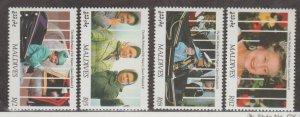 Maldive Islands Scott #1534-1536-1538-1539 Stamps - Mint NH Set