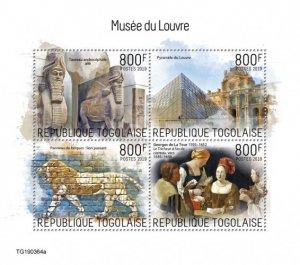 TOGO - 2019 - Louvre Museum - Perf 4v Sheet - MNH