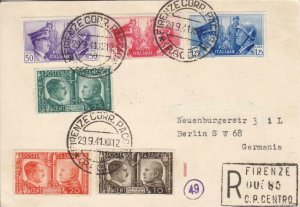 1941, Firenze, Italy to Berlin, Germany, Registered, See Remark (21049)