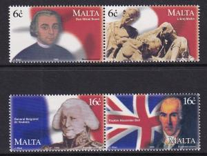Malta   #977a-980a   MNH  1999  uprising against France in pairs
