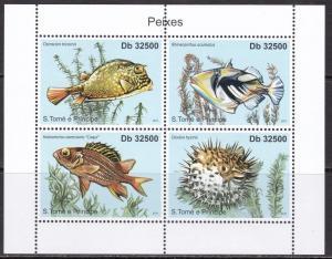 Sao Tome and Principe, Fauna, Fishes. MNH / 2011