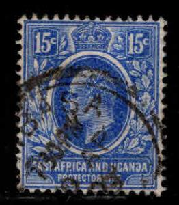 East Africa and Uganda protectorates  Scott 36 KEVII nice color and centering