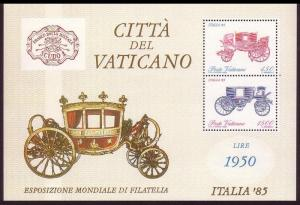 Vatican Old carriages MS SG#MS845 MI#Block 8 SC#767a
