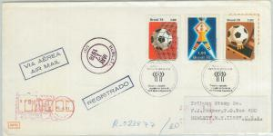 78985 - BRAZIL - Postal History -  FOOTBALL stamp  set on COVER - Argentina 1978
