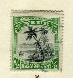 NIUE; 1920 early pictorial issue used 1/2d. value