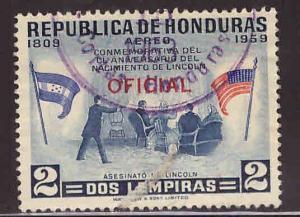 Honduras Scott Co108 Used flag stamp