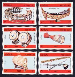 Laos Musical Instruments 6v SG#716-721 SC#529-534