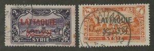Latakia #12, #14 > Issues of 1931-33 > Used > SCV $9.50