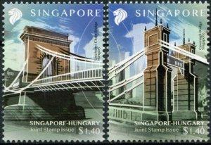 Singapore Bridges Stamps 2020 MNH Diplomatic Relations Hungary 2v Set