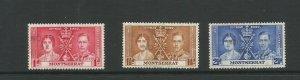Montserrat 1937 Coronation Used Set SG 98 / 100