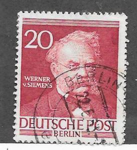 Germany #9N90 20pf Wierner Von Seimens-brn red- (U) CV $0.75